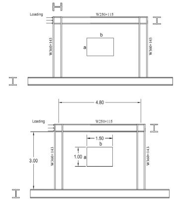 اندازه اجزای دیوار برشی فولادی و جهت گیری