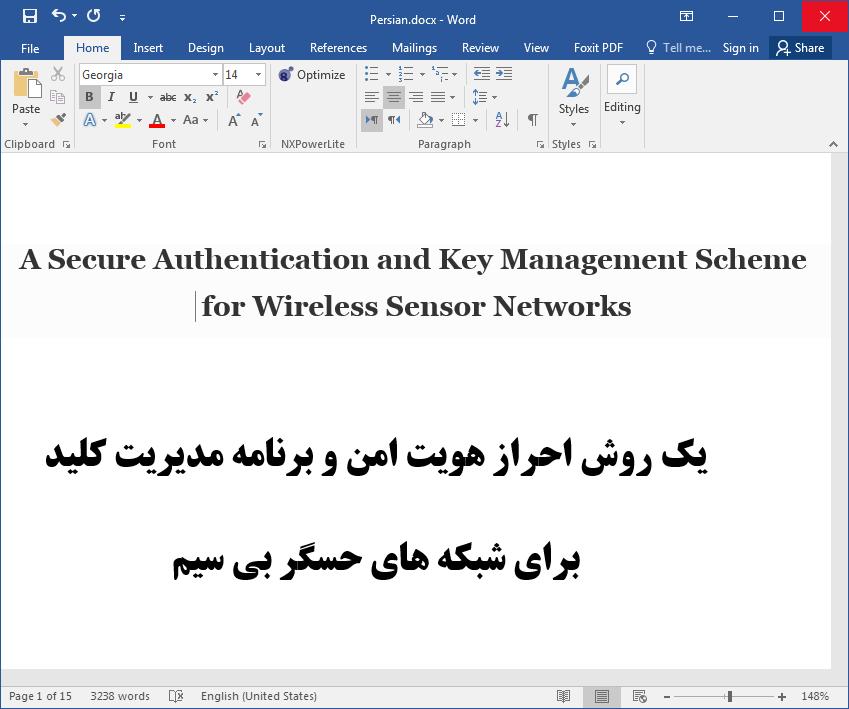 شبکه های حسگر بی سیم (WSNs) با یک تایید هویت امن و طرح مدیریت کلید