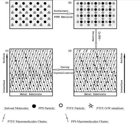 نقشه انگاره ساز و کار پراکندگی [dispersion] و دینامیک ماکرومولکولی. پراکندگی پودر PTFE اصلی