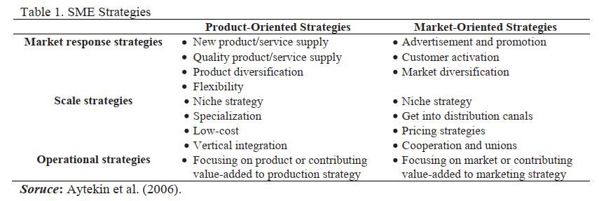 استراتژی های شرکت در بنگاه های کوچک و متوسط (SMEs)