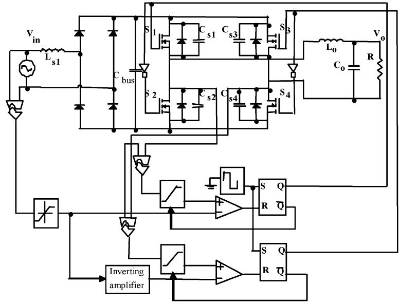 منبع تغذیه AC ذوزنقه ای تک فاز با ضریب توان نزدیک به واحد با حداقل خازن باس DC ; کنترل PWM انتگرالی با بازنشانی یک سیکله