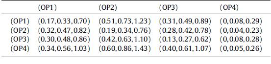 ماتریس رابطه ی مستقیم کلی فازی بعد عملکرد سازمانی