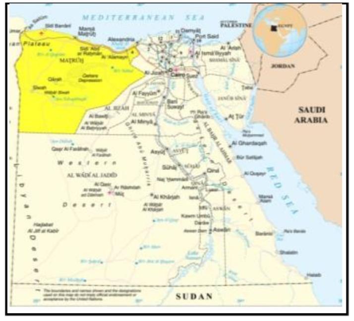 نقشهی مصر