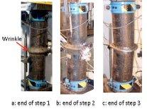 شکل تغییر یافته ی نمونه 4 در انتهای مراحل بار مختلف