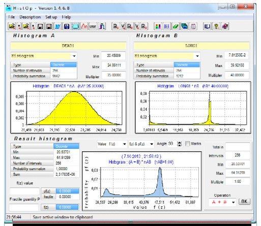 دسکتاپ برنامه HistOp: محاسبه ترکیب بار مرده و دراز مدت